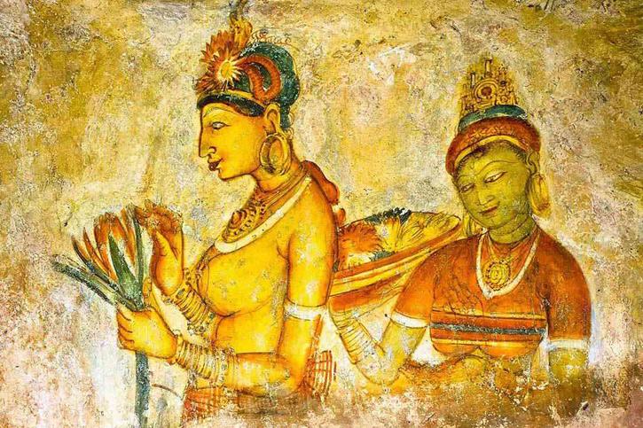 Sigiriya rock fortress paintings